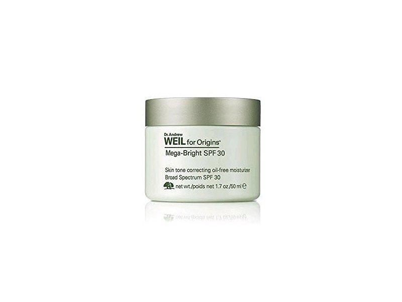 Dr. Andrew Weil for Origins Mega-Bright SPF 30 Skin Tone Oil-Free Moisturizer, 1.7 oz / 50ml