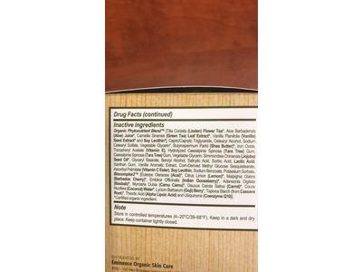 Eminence Organic Light Vanilla Latte Tinted Moisturizer SPF 25, 1.2 Ounce - Image 4