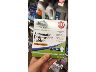 If You Care Automatic Dishwasher Tablets, Free & Clear, 40 Count - Image 5