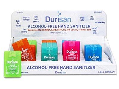 Durisan Hand Sanitizer 17 ML Credit Card Spray Mister - 36 Pack