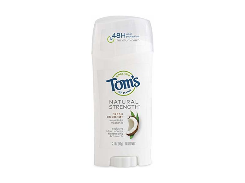 Tom's Natural Strength Deodorant, Fresh Coconut, 2.1 oz