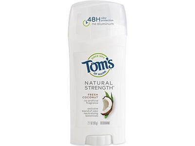 Tom's Natural Strength Deodorant, Fresh Coconut, 2.1 oz