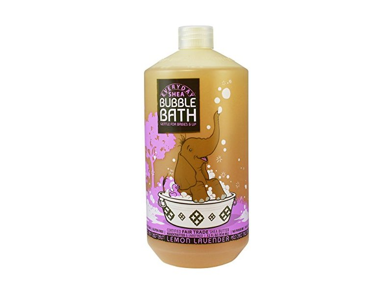 Alaffia - EveryDay Shea - Moisturizing Shea Butter Bubble Bath for Babies, Lemon-Lavender, 32 Ounces