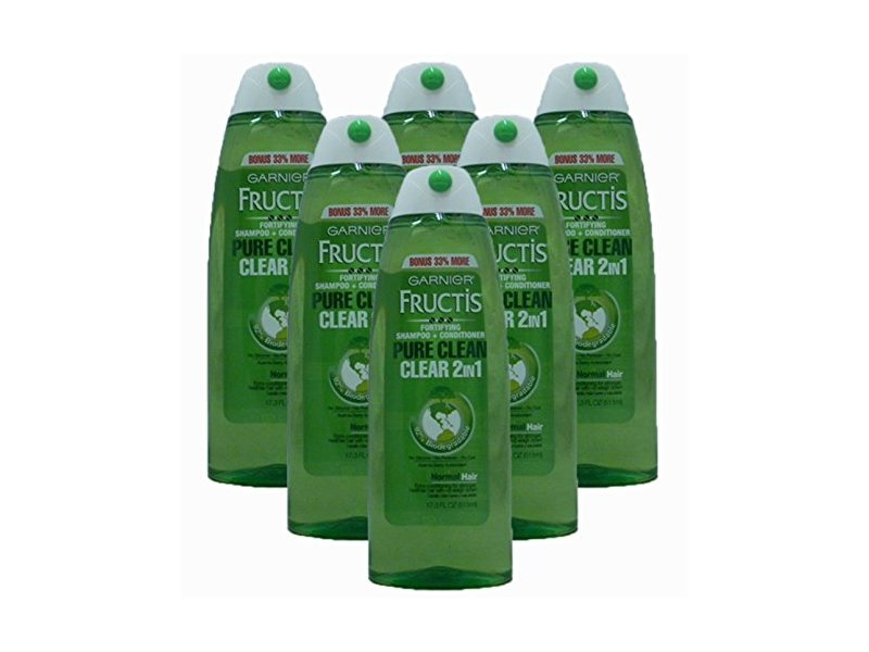 Garnier Fructis Pure Clean 2-in-1 Shampoo and Conditioner for Normal Hair, 17.3 fl oz