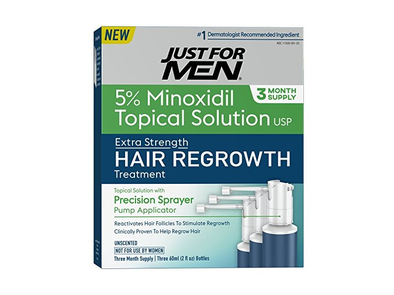 Just for Men Minoxidil Extra Strength Hair Loss Regrowth Treatment, 6 fl oz