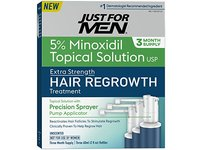 Just for Men Minoxidil Extra Strength Hair Loss Regrowth Treatment, 6 fl oz - Image 2