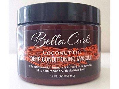Bella Curls Coconut Oil Deep Conditioning Masque, 12 oz