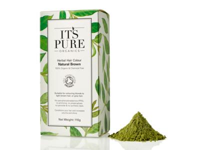 It's Pure Organics Herbal Hair Colour, Natural Brown, 110 g