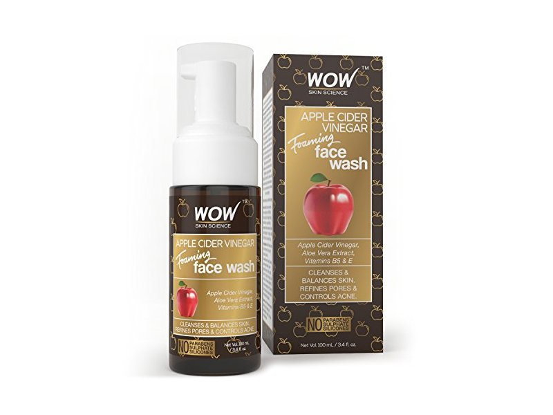 Wow Apple Cider Vinegar Foaming Face Wash, 100ml
