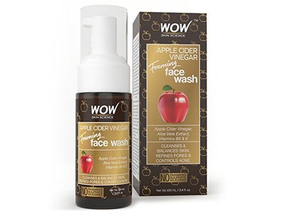 Wow Apple Cider Vinegar Foaming Face Wash, 100ml - Image 1