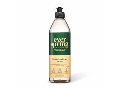 Everyspring Mandarin & Ginger Liquid Dish Soap, 18 fl oz