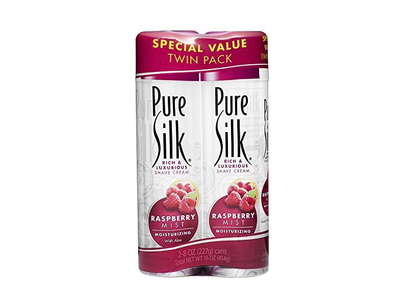 Pure Silk Raspberry Mist Shave Cream for Women, 16 OZ
