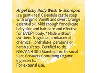 Earth Mama-Angel Baby Body Wash & Shampoo Pure Castile Vanilla Orange Soap for Every Body 5.3 fl. oz - Image 8