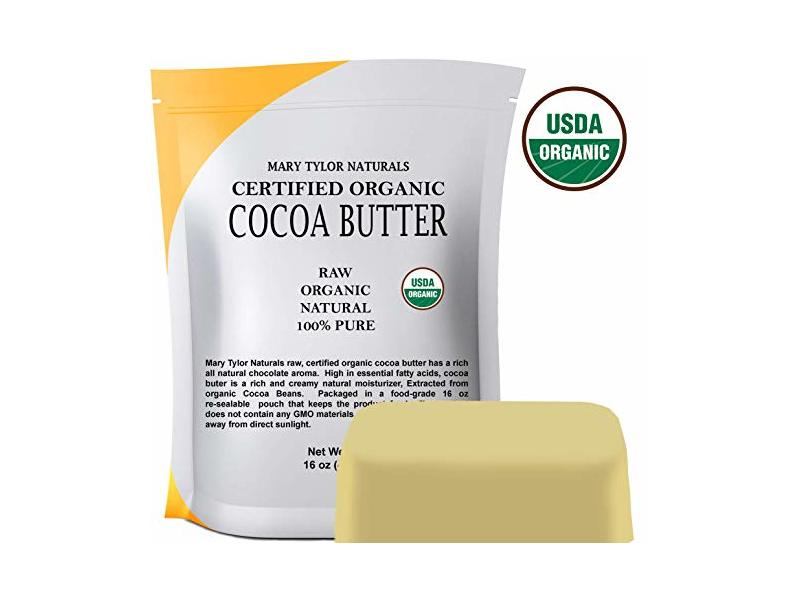 Mary Tylor Naturals Organic Cocoa Butter, 1 lb