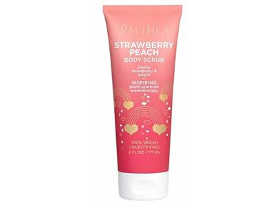 Pacifica Strawberry & Peach Body Scrub, 6 fl oz/177 ml