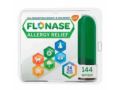 Flonase Allergy Relief Nasal Spray, 24 Hour Non Drowsy Allergy Medicine, Metered Nasal Spray - 144 Sprays