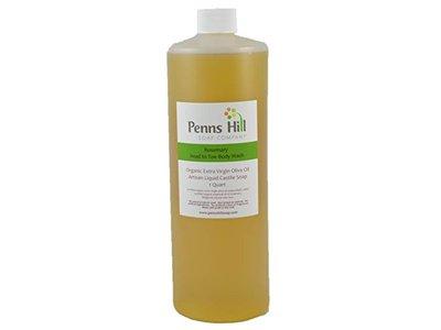 Penns Hill Organic Extra Virgin Olive Oil Liquid Castile Soap, Rosemary, 8 fl oz