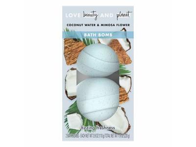 Beauty & Planet Coconut Water & Mimosa Flower Bath Bombs, 7.8 fl oz