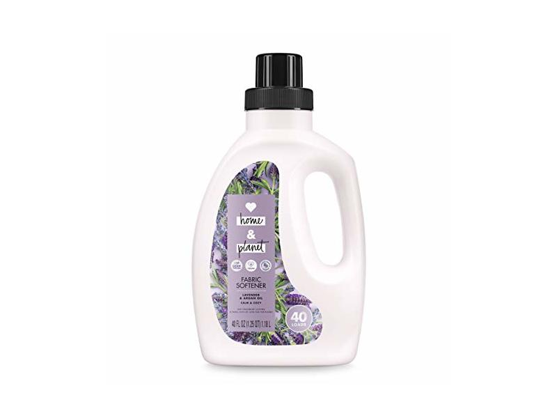 Love Home and Planet Fabric Softener, Lavender & Argan Oil, 40 fl oz