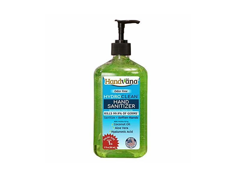 Handvana HydroClean Gel Hand Sanitizer, 17 fl oz