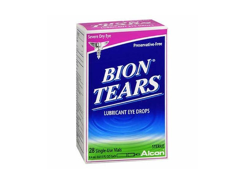 Bion Tears Lubricant Eye Drops Single Use Vials, 28 ct