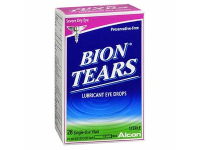 Bion Tears Lubricant Eye Drops Single Use Vials, 28 ct