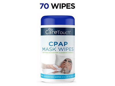 Care Touch CPAP Cleaning Mask Wipes, Unscented, Lint Free, 70 count