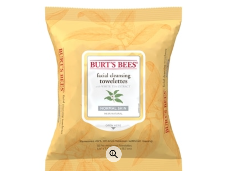 Burt's Bees Facial Cleansing Towelettes White Tea Extract
