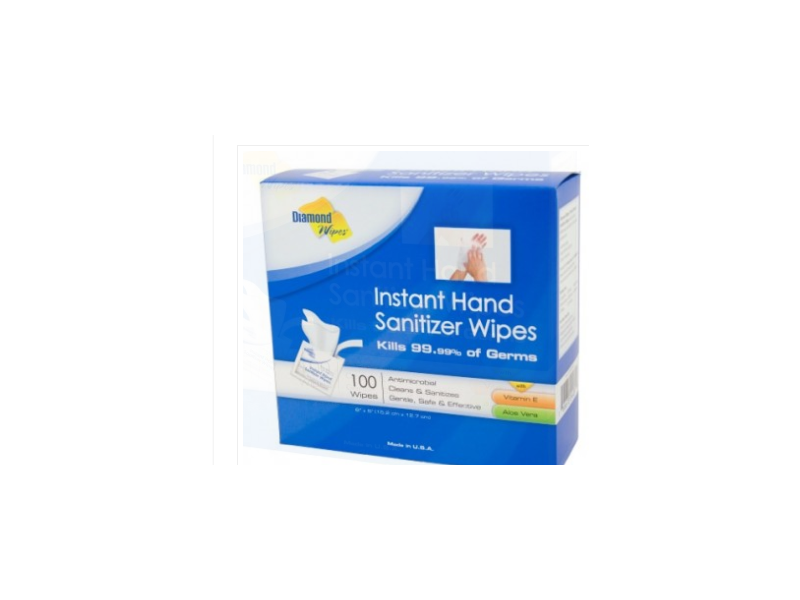 Diamond Wipes Instant Hand Sanitizer Wipes, 100 wipes