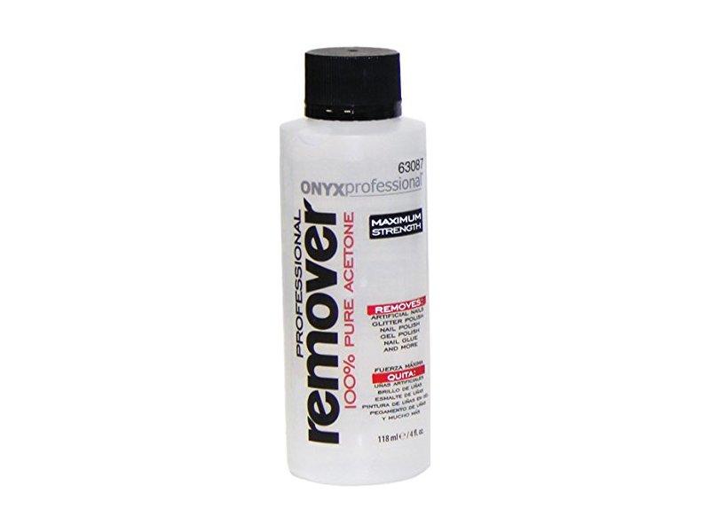Onyx Professional 100% Acetone Nail Polish Remover, 4 oz -