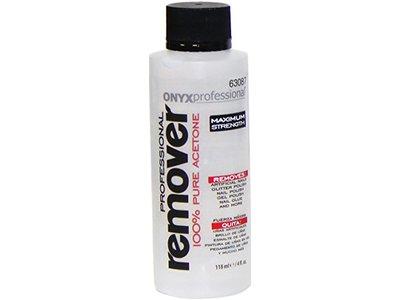 Onyx Professional 100% Acetone Nail Polish Remover, 4 oz - - Image 1