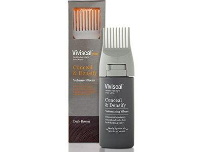 Viviscal Man Conceal & Densify Volumizing Fibers, Dark Brown, 0.53 oz