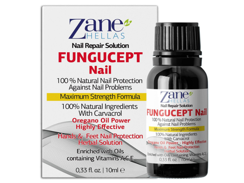 Zane Hellas Fungucept Nail Repair Solution, 0.33 fl oz / 10 ml