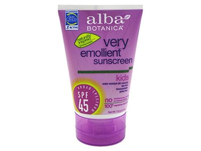 Alba Botanica Sunblock, Kids, SPF 45, 4 oz