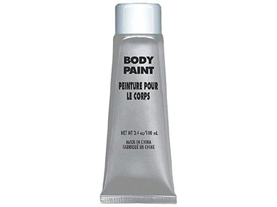 Amscan Body Paint, Party Accessory, Silver, 3.4 oz