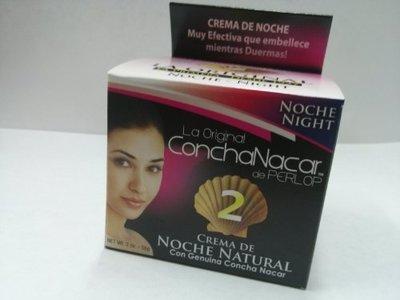 La Original Concha Nacar De Perlop #2 Night Cream De Noche Natural, 2 oz