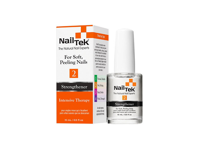 Nail Tek Intensive Therapy-2 Treatment for Soft Peeling Nails, 0.5 ...
