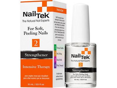 Nail Tek Intensive Therapy-2 Treatment for Soft Peeling Nails, 0.5 Fluid Ounce