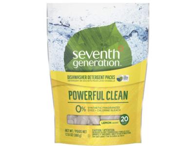Seventh Generation Dishwasher Detergent Packs, Lemon Scent, 12.6 oz/360 g, 20 Count