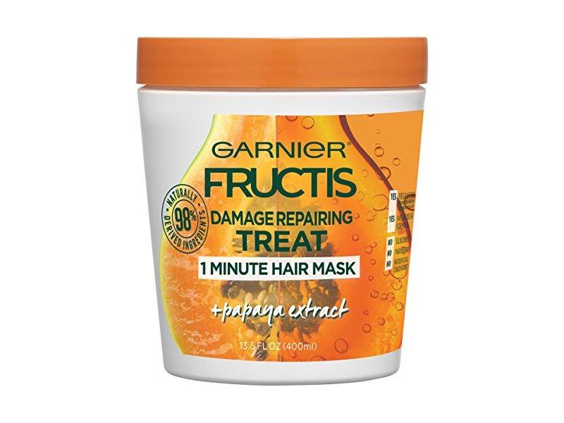 Garnier Hair Care Fructis Damage Repairing Treat 1-Minute Hair Mask With Papaya Extract, 13.5 Fluid Ounce