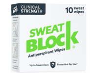 Sweatblock Antiperspirant Wipes, Clinical Strength, 10 Count - Image 2