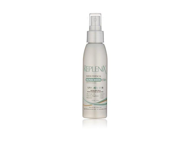 Replenix Sheer Physical Sunscreen SPF 50+, 4 Oz