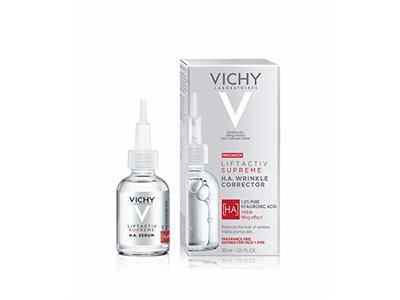 Vichy Laboratories Liftactiv Supreme H.A. Wrinkle Corrector, Fragrance-Free, 1.01 fl oz/30 mL