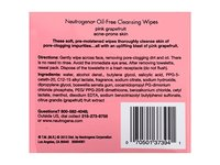 Neutrogena Oil-Free Cleansing Wipes, Pink Grapefruit, 2-pack - Image 7