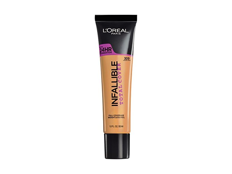 L'Oreal Paris Cosmetics Infallible Total Cover Foundation, Caramel Beige