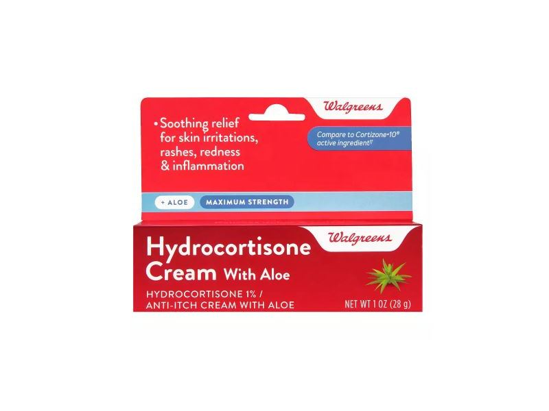 Walgreens Hydrocortisone 1% Cream, Aloe, 1 oz