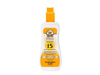 Australian Gold SPF 15 Spray Gel Sunscreen, Clear, 8 Fl Oz - Image 1