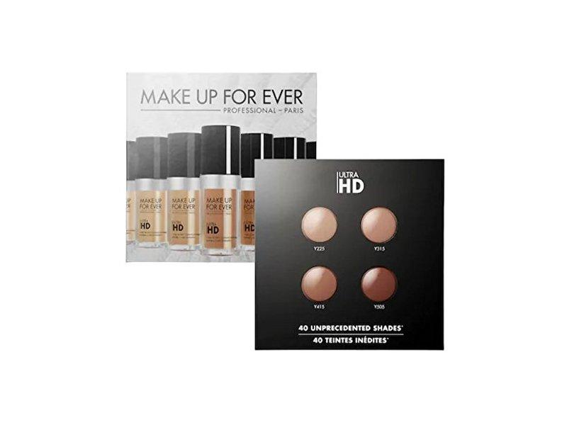 Make Up For Ever Ultra HD Foundation Sample Card 4 Shades Y225- Y335 - Y415 - Y505
