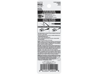 Maybelline Eyestudio Master Precise All Day Liquid Eyeliner Makeup, Forest Brown, 0.034 fl. oz. - Image 10