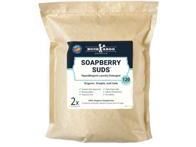Buckaroo Organics Soapberry Suds Organic Laundry Detergent, 20 Loads